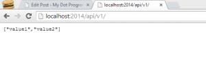 web api json response